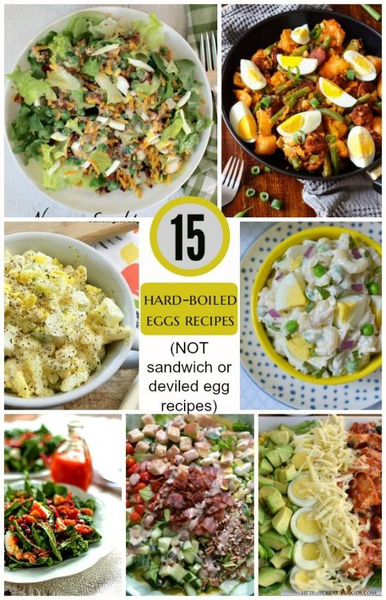 15 Recipes that are not sandwich or deviled egg recipes that use Hard-Boiled Eggs -- use up the eggs from Easter egg coloring fun! You can also find 20 Deviled Egg Recipes and 15 Sandwich Recipes that use Hard-Boiled Eggs.