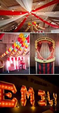 Nice decorations if fall colors...skip the kissing booth ...