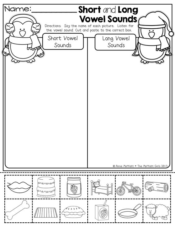 Vowel sounds, Words and Cut and paste on Pinterest