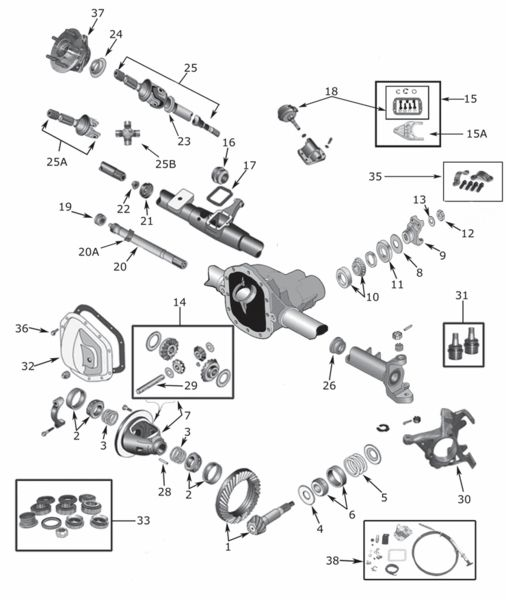 Dana 30 Front Disconnect & Non Disconnect Axle Parts and