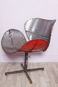 Details about Large Upcycled Metal Oil Drum Swivel Chair ...