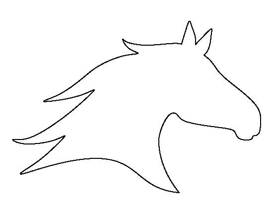 Horse Head Profile Outline