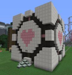 minecraft kawaii panda cube companion san deviantart houses statues pixel statue cool designs buildings tutorial blueprints decorations castle girly tour