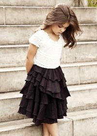beautiful little girl and such a cute modest outfit for ...
