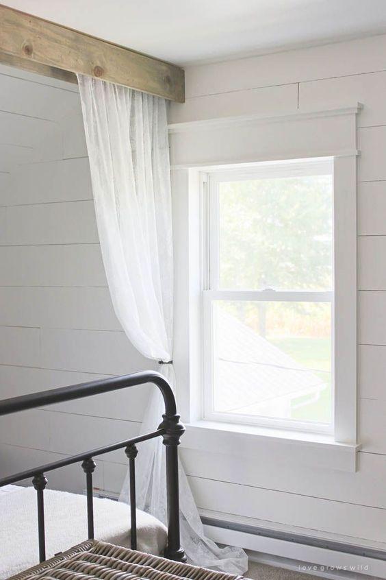 Farmhouse Window Trim Beautiful Ceiling Curtains And