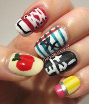 cute school nail design