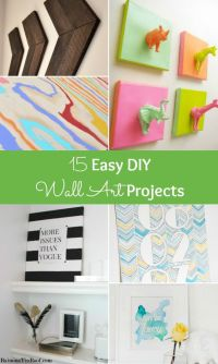 Get rid of those bare walls! Try one of these easy DIY ...