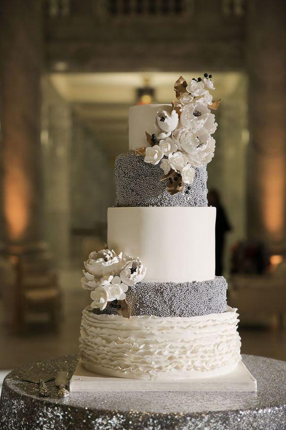 Old Hollywood Metallic Winter Wedding Utah White