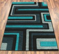 Grey and Teal Rug | New Living Room #records #retro #teal ...