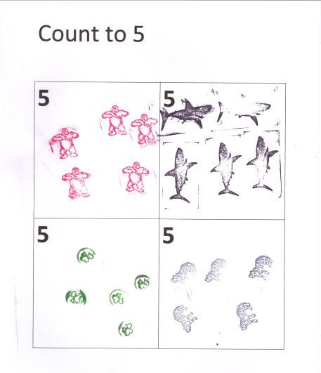 Count, Free printable worksheets and Stamps on Pinterest