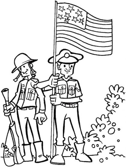 For courage, dedication and loyalty coloring page