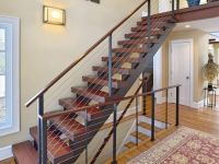 Custom double stringer steel floating staircase and ...