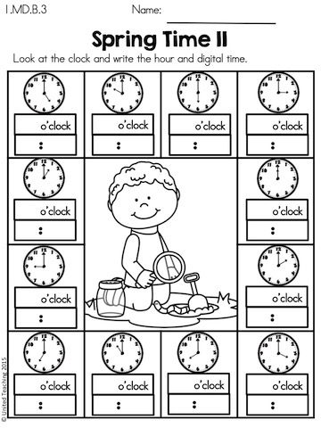 Spring 1st Grade Math Worksheets (Common Core Aligned