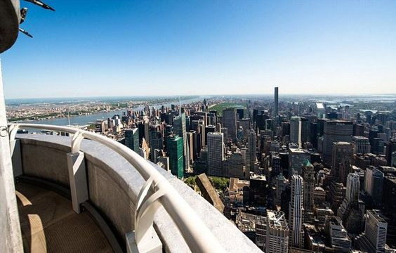 The highest observation deck of Empire State Building at the 103rd floor