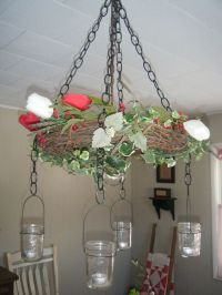 make your own grapevine wreath chandelier | Creative home ...