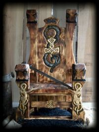Viking throne... I need one of these! | Vikings ...