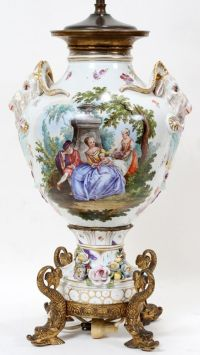 Dresden, Table lamps and Porcelain on Pinterest
