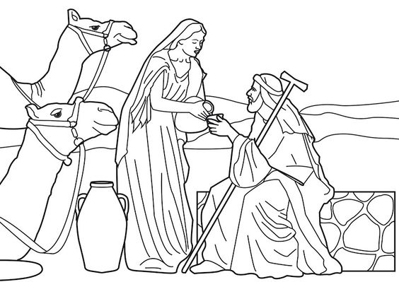 Bible coloring pages, Wells and Coloring pages on Pinterest