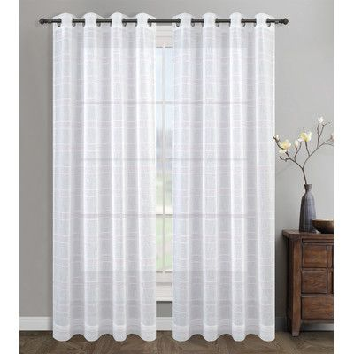 Urbanest Chamon Sheer Curtain Drapery Curtain Panels Color Pink