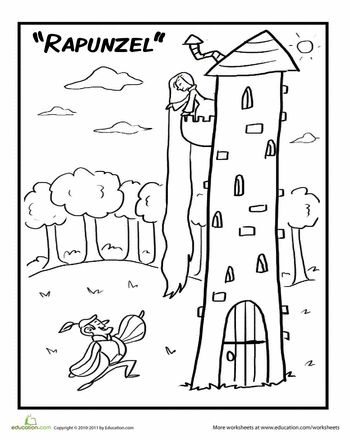 Rapunzel, Colors and Coloring pages on Pinterest