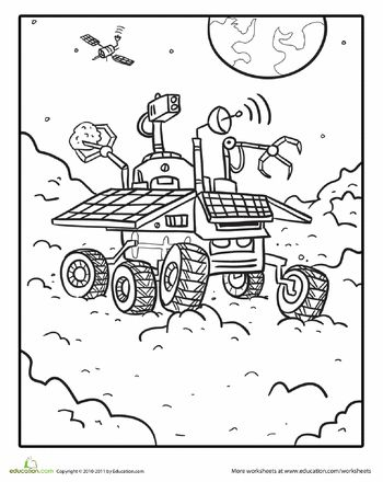 Coloring sheets, Mars and Colors on Pinterest