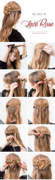 lace braid hair tutorials