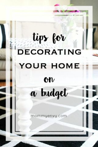 Tips for decorating your home on a budget. | Finding furniture and home decor at a thrift stores can help save you money! | www.mommyenvy.com: