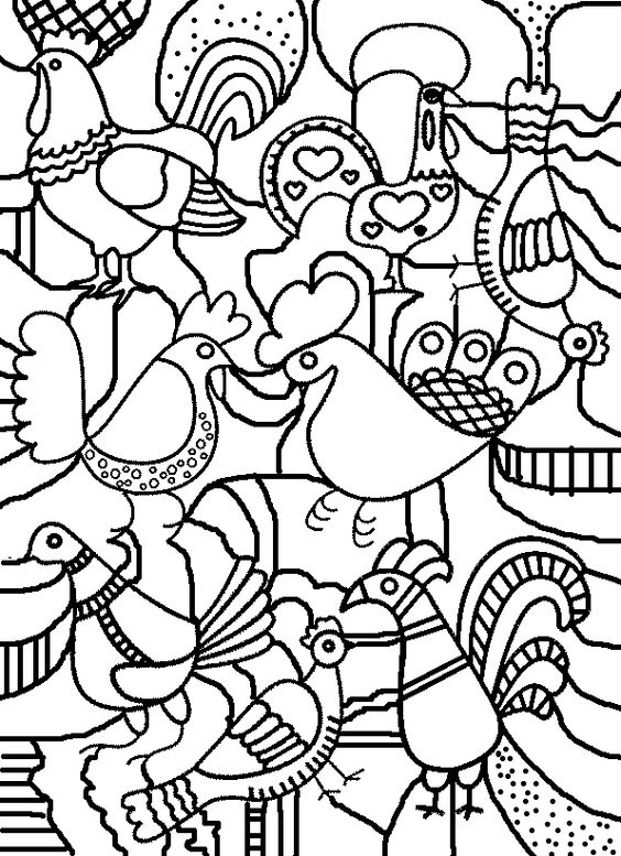 Coloring, Birds and Collage on Pinterest