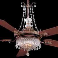 Unique Ceiling Fans with Chandeliers | ... unique ornate ...