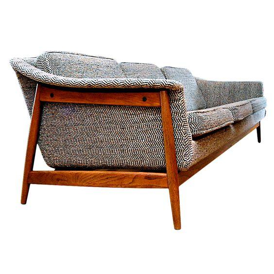 Dux Danish Modern MidCentury Sofa  Furniture Mid