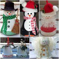 How to DIY Terra Cotta Flower Pot Christmas Decorations ...