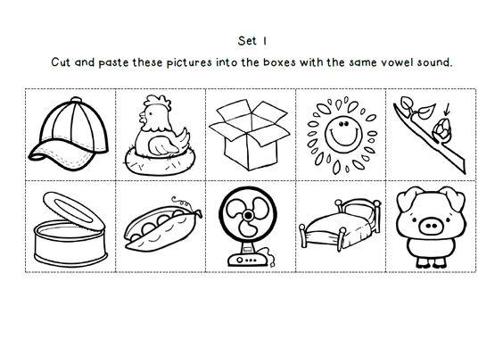 Shorts, Short vowels and Worksheets on Pinterest