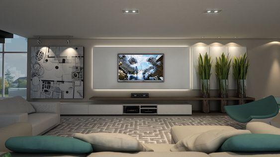 Projeto by NK Arquitetura - Nicolle Nogueira e Katherine Heim Weber - Painel TV | Sala de Estar: