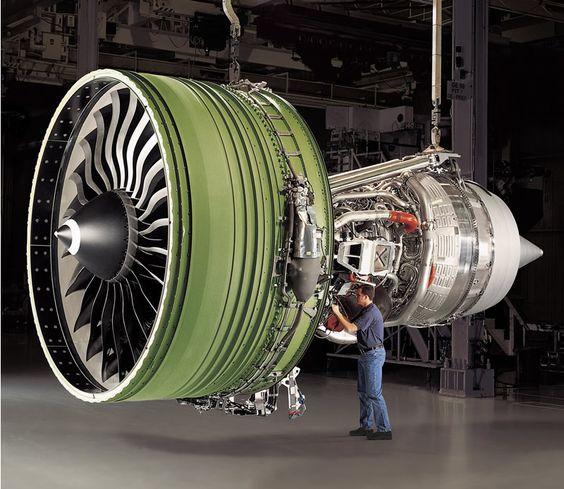 General Electric GE90115B highbypass turbofan aircraft