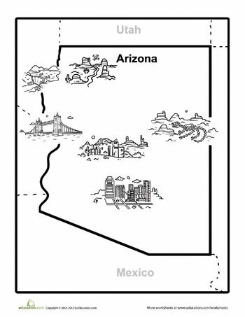 Worksheets, Maps and Arizona on Pinterest