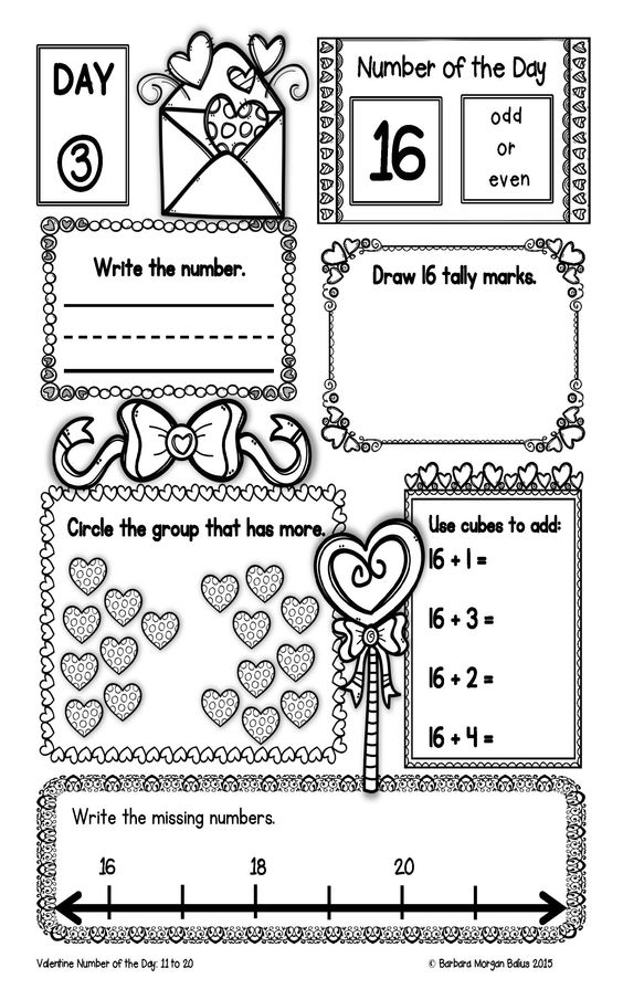 Valentines day, Valentines and Number sense on Pinterest