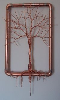 Wire trees, Copper wire and Hanging wall art on Pinterest