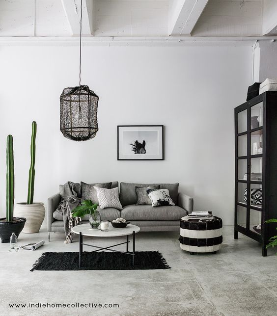 Monochrome Lounge - Styling/Photography: Indie Home Collective: