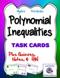 Rational And Polynomial Inequalities Worksheet - solving ...