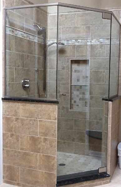 neo angle shower ideas