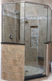 neo angle shower ideas