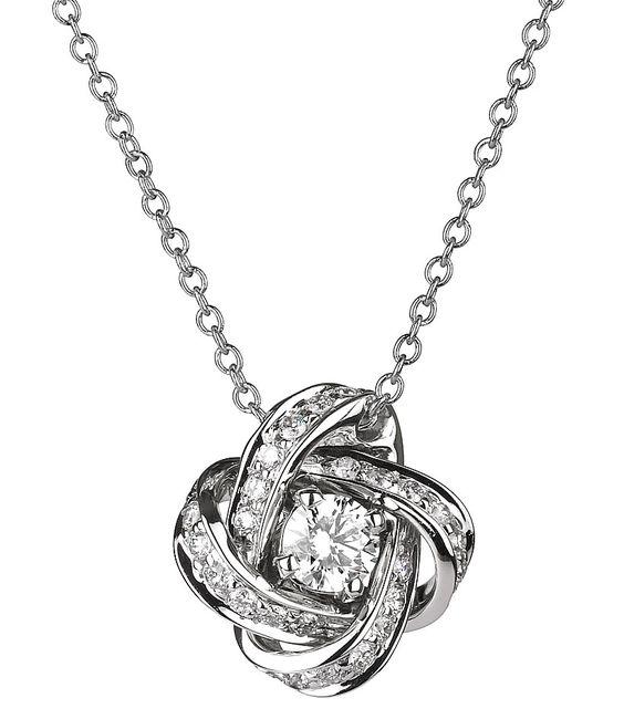 Diamond necklaces, Knots and Diamonds on Pinterest