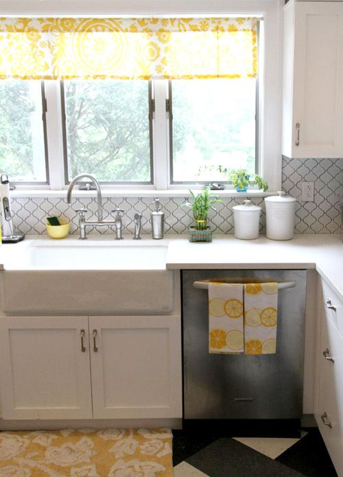 Kitchens Yellow And Tile On Pinterest