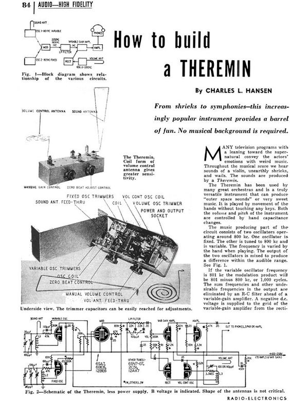 Theremin Wiring Schematic  Power Supply Schematic, Pipe Organ