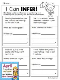 Making Inferences - First Grade Printables ...