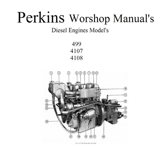 PERKINS MARINE DIESEL ENGINES 4.108 4.107 4.99 WORKSHOP