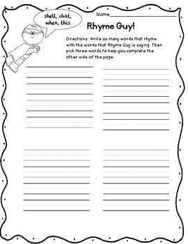 Rhyming Sentence. Worksheets. Tutsstar Thousands of