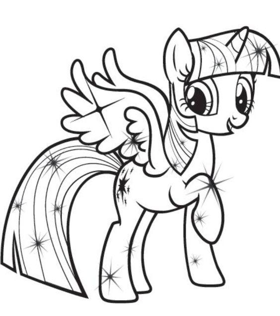 Pin Kolorowanki Kucyki Pony Dla Dzieci Do Druku