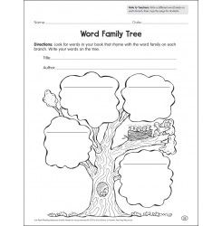 Reading response, Word families and Graphic organizers on