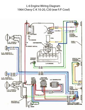 ELECTRIC: L6 Engine Wiring Diagram | '60s Chevy C10  Wiring & Electric | Pinterest | Engine
